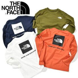 ノースフェイス 子供 バックプリント UVカット 長袖 Tシャツ キッズ THE NORTH FACE L/S Square Logo Tee ロングスリーブ スクエア ロゴ ティー 2021秋冬新色 ntj82020