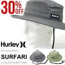 送料無料 ハット HURLEY ハーレー メンズ SURFARI ロゴ 帽子 サファリハット サファリ HAT サーフハット サーフ ストリート スケートボード...