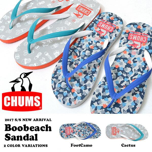 CHUMS チャムス ビーチサンダル メンズ レディース Boobeach Sandal ブービーチサンダル ビーサン サンダル ビーチサンダル ビーサン ビーチ 海 海水浴 プール 2017夏新作 得割20