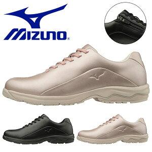 送料無料 ウォーキングシューズ ミズノ レディース MIZUNO LD40V SW ファスナー付 スニーカー 靴 ビジネス カジュアル ウォーキング シューズ 幅広 4E B1GD1918 得割26