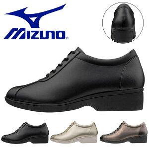 送料無料 ウォーキングシューズ ミズノ レディース MIZUNO LS ELS ファスナー付き スニーカー 靴 カジュアル ビジネス ウォーキング シューズ 3E B1GF2040 得割24