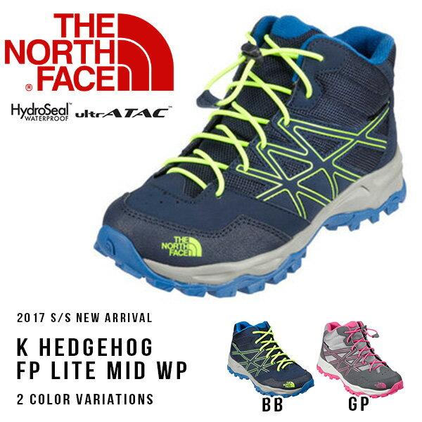 送料無料 トレッキングシューズ ザ・ノースフェイス THE NORTH FACE K ヘッジホッグ ファストパック ライト ミッド Hedgehog FP Lite Mid WP 子供 キッズ アウトドア 登山 ブーツ