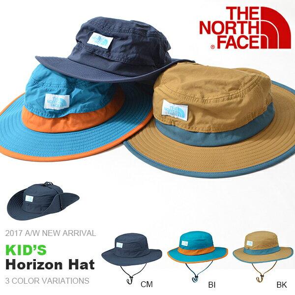 UVカット ハット ザ・ノースフェイス THE NORTH FACE Kids Horizon Hat キッズ ホライゾン ハット 帽子 2017秋冬新作 子供 紫外線 日差し防止 nnj41702 15%off