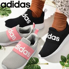 送料無料 アディダス スリッポン スニーカー レディース adidas LITE ADIRACER ADAPT 4.0 K ライトアディレーサー カジュアル シューズ 靴 ビッグロゴ 2021秋新色 Q47208 Q47209 GY2614 Q47207