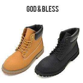 becdda3e1d God&Bless イエローブーツ メンズ レディース G&B FAKE LEATHER YELLOW BOOTS ブラック新色