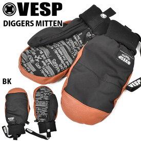 送料無料 ミトングローブ VESP ベスプ DIGGERS MITTEN BBG19-01 ブラック 黒 ミトン 手袋 メンズ スノー グローブ スノーボード スノボ スキー 防寒 20%off
