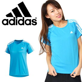 a06711d5fdee96 半袖 Tシャツ アディダス adidas W 定番3ストライプ半袖Tシャツ レディース スポーツウェア ランニング