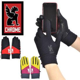 話題の暖かポーラーテック仕様 送料無料 グローブ CHROME クローム パワー ストレッチ グローブ 手袋 ピスト バイク スケボー メッセンジャー 得割20