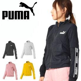 40%off スウェットトラックジャケット プーマ PUMA レディース AMPLIFIED スウェットジャケット スエット ラインテープロゴ ジャージ スポーツウェア 581067