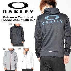 得割30 送料無料 長袖 フリース ジャケット OAKLEY オークリー Enhance Technical Fleece Jacket.QD 8.7 パーカー フルジップ バックロゴ 日本正規品 スポーツ トレーニング