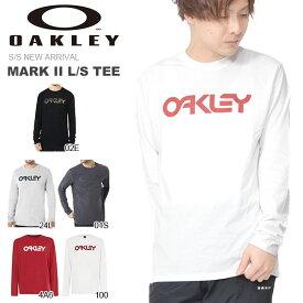 長袖 Tシャツ OAKLEY オークリー メンズ MARK II L/S TEE ロゴ Tシャツ トレーニング スポーツ カジュアル ウェア 2019春夏新作 得割23