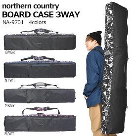 【すぐ使える100円割引クーポン配布中!】 送料無料 スノーボード ケース 3WAY スノボ バッグ Northern Country ノーザンカントリー ボードバッグ 全面パッド入り 160cm 148cm 得割36