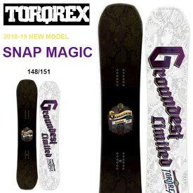 送料無料 TORQREX トルクレックス ボード SNAP MAGIC スナップマジック 板 スノーボード メンズ 紳士スノーボード ダブルキャンバー 148 151 25%off