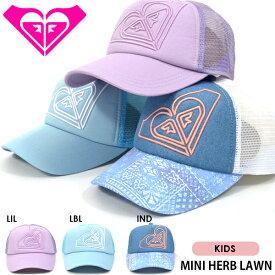 553398c5e20c1 メッシュキャップ ROXY ロキシー キッズ ジュニア 子供 MINI HERB LAWN ロゴキャップ ロゴ メッシュ キャップ 帽子