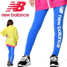 ロングタイツ new balance ニューバランス レディース スポーツスタイルオプティクスレギンス スパッツ ビッグロゴ ブルー 青 2019秋冬新作 AWP93508