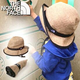 送料無料 麦わら帽子 ザ・ノースフェイス THE NORTH FACE Kids Hike Hat キッズ ハイク ハット 子供 パッカブル 紫外線 日差し防止 折り畳み NNJ01820