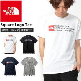 スクエア ロゴ UV 半袖Tシャツ THE NORTH FACE ザ・ノースフェイス Square Logo Tee スクエア ロゴティー メンズ 2019春夏新作 紫外線防止 nt31975