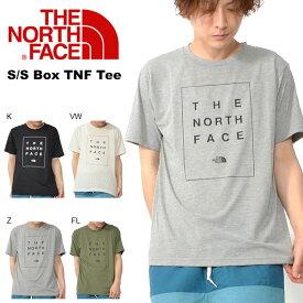 追加企画 UV 半袖Tシャツ THE NORTH FACE ザ・ノースフェイス S/S Box TNF Tee ショートスリーブ TNF ボックス ティー メンズ 2019春夏新作 紫外線防止 nt31985