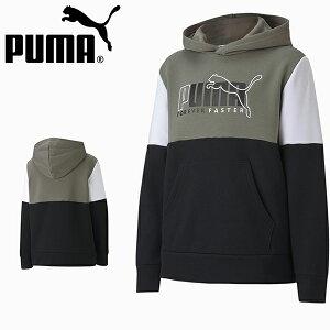 30%OFF キッズ スウェット パーカー プーマ PUMA ジュニア 子供 ALPHA フーディー FL 裏起毛 プルオーバー スエット トレーナー ロゴ スポーツウェア ブラック 黒 585220