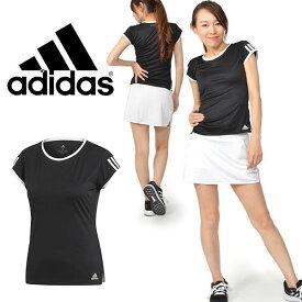30%OFF 半袖 Tシャツ adidas レディース TENNIS CLUB 3ST TEE 吸汗速乾 テニスウェア スポーツウェア 部活 クラブ 練習 合宿 3本ライン 2019夏新作 FRO19【あす楽対応】