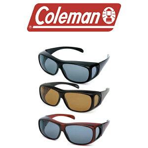 メガネの上から掛けられるオーバーサングラス Coleman コールマン 偏光レンズ UVカット 紫外線対策 偏光 サングラス オーバーグラス 眼鏡 メガネ アウトドア スポーツ 釣り ゴルフ メンズ レデ