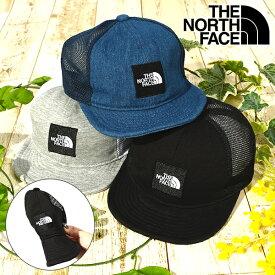折りたためる 子供 メッシュキャップ THE NORTH FACE ノースフェイス Baby Square Logo Mesh Cap キッズ ベビー スクエアロゴ メッシュ キャップ 帽子 幼児 1歳 2歳 nnb02000