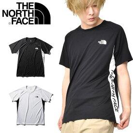 送料無料 UV 吸汗速乾 半袖Tシャツ THE NORTH FACE ザ・ノースフェイス S/S Ampere Side Logo Crew ショートスリーブ アンペア サイドロゴ クルー メンズ 2020春夏新作 nt12082
