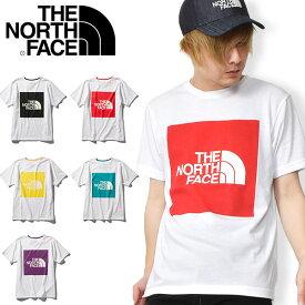 送料無料 ノースフェイス スクエアロゴ 半袖Tシャツ メンズ THE NORTH FACE S/S Colored Big Logo Tee ショートスリーブカラードビッグロゴティー nt32043