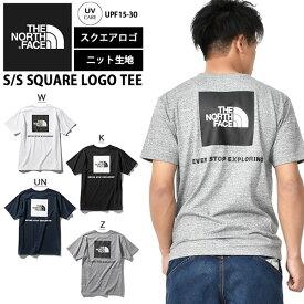 【すぐ使える100円割引クーポン配布中!】 送料無料 背中で魅せる 2020春夏新作 バックプリント 半袖 Tシャツ THE NORTH FACE ザ・ノースフェイス S/S Square Logo Tee ショートスリーブ スクエア ロゴ ティー メンズ 半T NT32038
