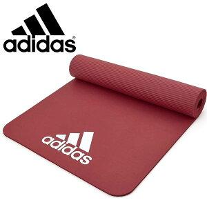 送料無料 アディダス adidas フィットネスマット 7mm レッド ヨガマット トレーニングマット エクササイズマット ストレッチ トレーニング ヨガ ピラティス 宅トレ ADMT-11014RD 【あす楽対応】