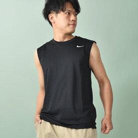 ゆうパケット対応!タンクトップ ナイキ NIKE メンズ ドライフィット レジェンド S/L Tシャツ ノースリーブ トレーニングシャツ スポーツウェア ランニング ジョギング ジム トレーニング フィットネス スポーツ シャツ ウェア ブラック 黒 718836 20%OFF