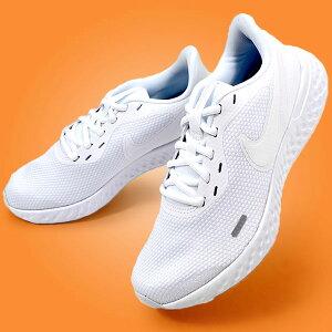 送料無料 ランニングシューズ ナイキ NIKE レディース レボリューション 5 ランニング ジョギング マラソン 運動靴 スニーカー シューズ 初心者 トレーニング REVOLUTION ホワイト 白 BQ3207 20%OFF