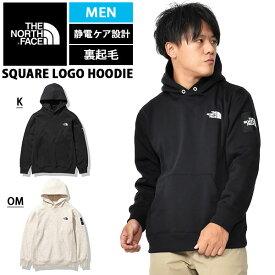送料無料 2020秋冬新作 裏起毛 スウェット パーカー THE NORTH FACE ザ・ノースフェイス Square Logo Hoodie スクエア ロゴ フーディー プルオーバー メンズ nt62039