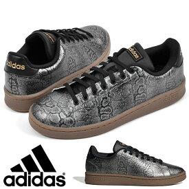 送料無料 安定感のあるクッション性 本革 スニーカー アディダス adidas メンズ レディース ADVANCOURT LEA SNAKE W アドバンコート ヘビ柄 カジュアル シューズ 靴 得割10 FY3970