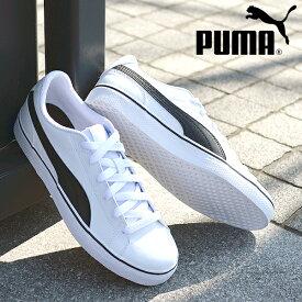 送料無料 38%off プーマ スニーカー PUMA メンズ コートポイント VULC V2 ローカット シューズ 靴 通学 白 黒 ホワイト ブラック COURTPOINT 362946