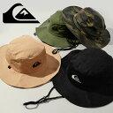 サファリハット QUIKSILVER クイックシルバー メンズ BUSHMASTER アウトドアハット 紐付き帽子 カモフラージュ カモフ…