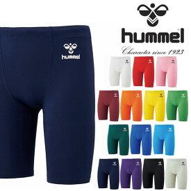 ヒュンメル hummel メンズ フィットインナースパッツ コンプレッション タイツ ショートタイツ アンダーウェア トレーニング ウェア 部活 クラブ 2021春夏新作 得割20 HAP6036