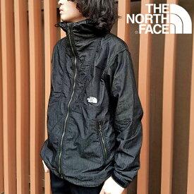 デニム 送料無料 ノースフェイス ジャケット メンズ THE NORTH FACE ナイロン デニム コンパクト ジャケット Nylon Denim Compact Jacket 2021春新作 np22136 ナイロンブラックデニム
