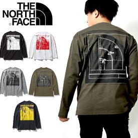 送料無料 ノースフェイス 長袖Tシャツ メンズ 生地厚 スクエアロゴ THE NORTH FACE L/S Sleeve Graphic Tee ロングスリーブスリーブグラフィックティー バックプリント ロンT nt32042 2021春夏新作