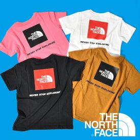 ザ・ノースフェイス キッズ 半袖Tシャツ THE NORTH FACE 子供 バックプリント S/S Square Logo Tee ショートスリーブ スクエア ロゴ ティー 2021春夏新作 ntj32142