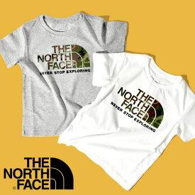 ザ・ノースフェイス 半袖Tシャツ キッズ THE NORTH FACE 子供 S/S Camo Logo Tee ショートスリーブ カモロゴ ティー 2021春夏新作 ntj82023