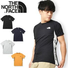 送料無料 ノースフェイス 半袖Tシャツ メンズ THE NORTH FACE S/S Ampere Side Logo Crew ショートスリーブ アンペア サイドロゴ クルー UV 吸汗速乾 2021春夏新色 nt12082