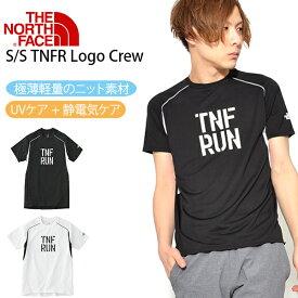 UV 半袖Tシャツ THE NORTH FACE ザ・ノースフェイス メンズ S/S TNFR Logo Crew ショートスリーブ TNFR ロゴクルー TNF RUN 20%off