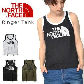UVケア タンクトップ THE NORTH FACE ザ・ノースフェイス メンズ Ringer Tank リンガータンク ビッグロゴ タンクトップ 2019春夏新色 ストレッチ 紫外線防止