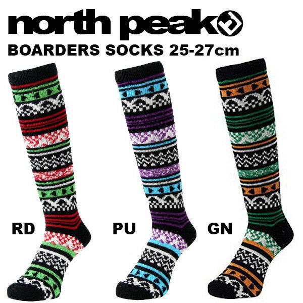 スノー ロング ソックス ハイソックス メンズ ノースピーク north peak スキー スノーボード スノボ アウトドア 靴下 ジャガード 得割30