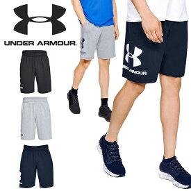 得割30 大きいサイズ ハーフパンツ アンダーアーマー UNDER ARMOUR UA COTTON BIG LOGO SHORTS メンズ スウェット ショーツ ショートパンツ 短パン ビッグロゴ ランニング ジョギング トレーニング ウェア 1329300 2021春夏新色