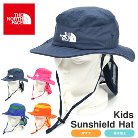 送料無料 UVカット ハット ザ・ノースフェイス THE NORTH FACE Kids Sunshield Hat キッズ サンシールド ハット 帽子 2019春夏新作 子供 撥水 紫外線 日差し防止 サンシェード nnj01905