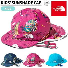 現品限り 子供 ラッシュ素材 UV キャップ THE NORTH FACE ザ・ノースフェイス キッズ Kids Sunshade Cap サンシェード キャップ 帽子 2019春夏新作 ビーチ 海水浴 プール nbj41946