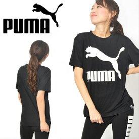 30%OFF 半袖Tシャツ プーマ PUMA レディース ARCHIVE ロゴTシャツ オーバーサイズ ビッグロゴ プリントTシャツ トップス 【あす楽対応】