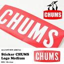ネコポス配送可能! ステッカー CHUMS チャムス Sticker CHUMS Logo Medium ロゴ シール 80mm×180mm アウトドア スノー...